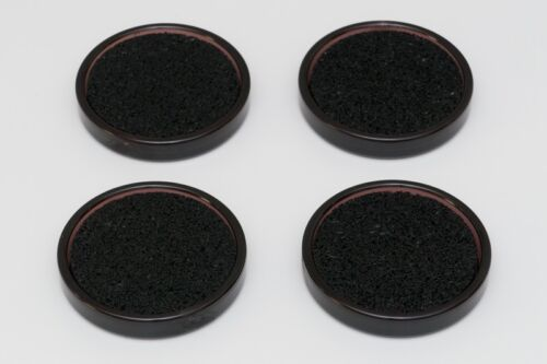 4 schalldämmene Untersetzer mit Iso-Floor braun transparent Klavier Kunststoff