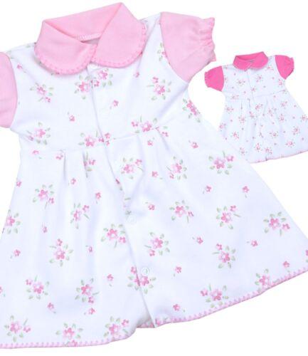 Babyprem Bébé Vêtements Filles Rose Vintage Floral Preemie Micro dress Newborn