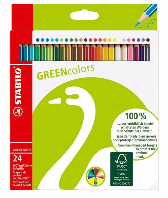 STABILO GREENcolors Wallet of 24 colours - FSC-certified coloured pencil