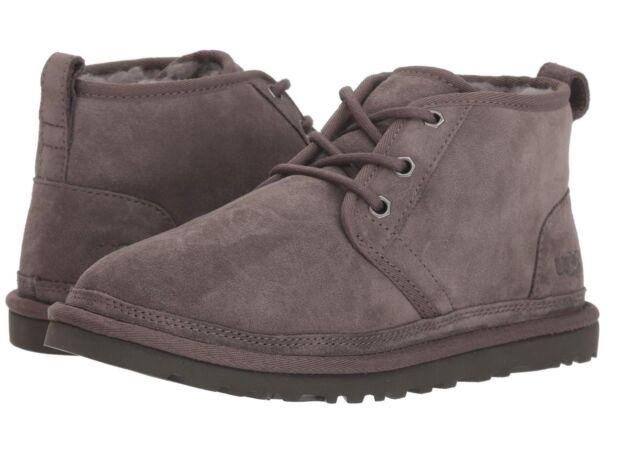 ef39da7a02 UGG Australia Neumel Mens Charcoal Suede Chukka BOOTS 3236 Size 11