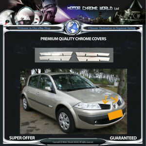 RENAULT-MEGANE-CHROME-GRILLE-COVER-HIGH-QUALITY-5Y-GUARANTEE-2002-2007-OFFER-NEW