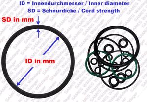 s //Pieza// pièce O-Ring Dichtring OR 7x2 NBR70 O-Anillo O-Anneau 6 Stück//pc