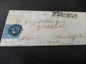 Bayern-Kreuzer-Brief-3-Kr-blau-2II3-gMR-034-217-034-Muenchen-gt-Advokat-Dr-Goetz-LA