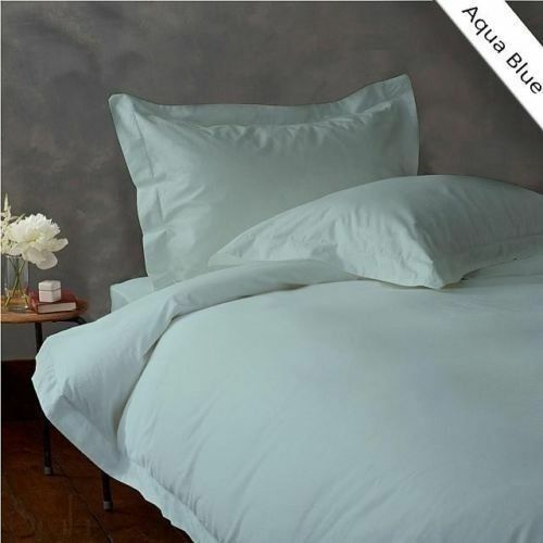 900 TC EGYPTIAN COTTON BEDDING SET 4 PCs FITTED SHEET+DUVET COVER A. BLUE COLOR