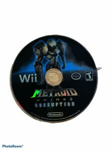 Metroid Prime 3: Corruption (Nintendo Wii, 2007) Disc Only