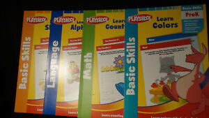 Playskool Pre K Learning Books Shapes,Alphabet,Math and Colors.