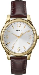 Timex Women's   Oxblood Croco Grain Leather Strap   Casual Watch T2P254