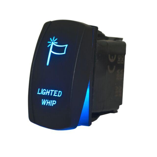 Car Motor Laser 12V 20A Toggle Rocker Switch Blue LED Bar Light Lamp Sales