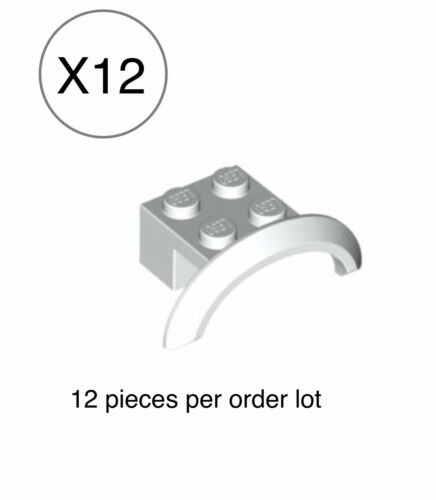 Truck Mudguard 4x2 1//2x1 w// Short Arch Round 2x4x1 Lego X12 White Vehicle Car