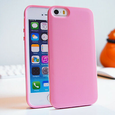 Soft Slim Glossy Skin Silicone Gel TPU Bumper Cover Case for iPhone 5c 5s 5 4 4s