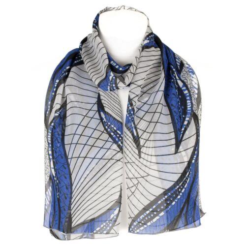 Chiffon Womens Abstract Flower Design Scarf Shawl Wrap