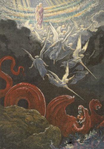 Postkarte Die gekrönte Jungfrau Gesicht des Johannes Gustave Dorè