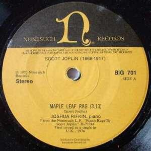 Joshua-Rifkin-Maple-Leaf-Rag-7-034-Vinyl-Schallplatte-1602