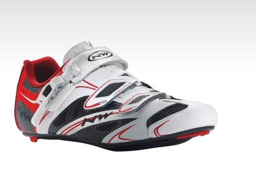 shoes NORTHWAVE CORSA Mod.SONIC SRS White Red SHOES NORTHWAVE SONIC WHITE