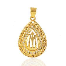 Statement Fashion jewelry Yellow Gold Filled Cubic Zirconia Allah Mens Pendan