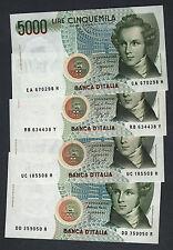 Serie completa 5000 Lire Bellini   FDS