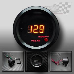 Medidor de voltios Luz LED Digital personalizada de dial interior Panel rociada Pod 52 mm 12 V