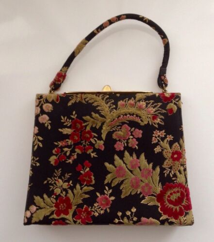 Lewis Vintage Raised Tapestry 50's hand bag