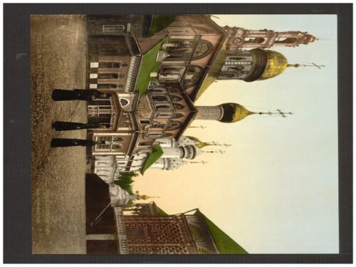 4765.Russian street with church in background.POSTER.decor Home Office art