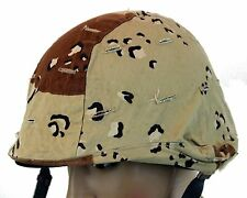 GENUINE US ARMED FORCES COMBAT HELMET COVER in DESERT CAMO
