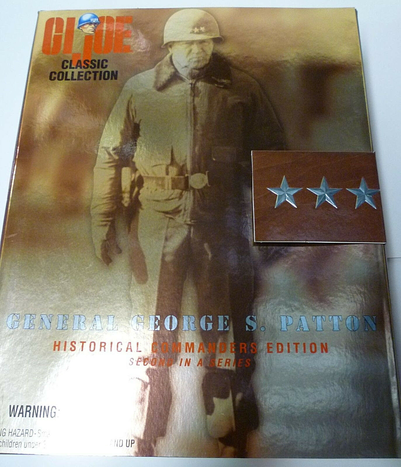 General Patton GI Joe 12 Inch US Army Hasbro Toys 1997 Nuovo from Factory Case