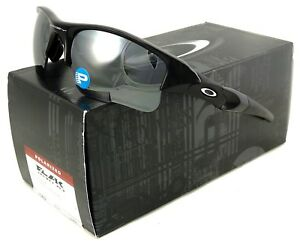 5b07a65e1fb NEW OAKLEY FLAK JACKET XLJ SUNGLASSES 12-903 JET BLACK   BLACK ...