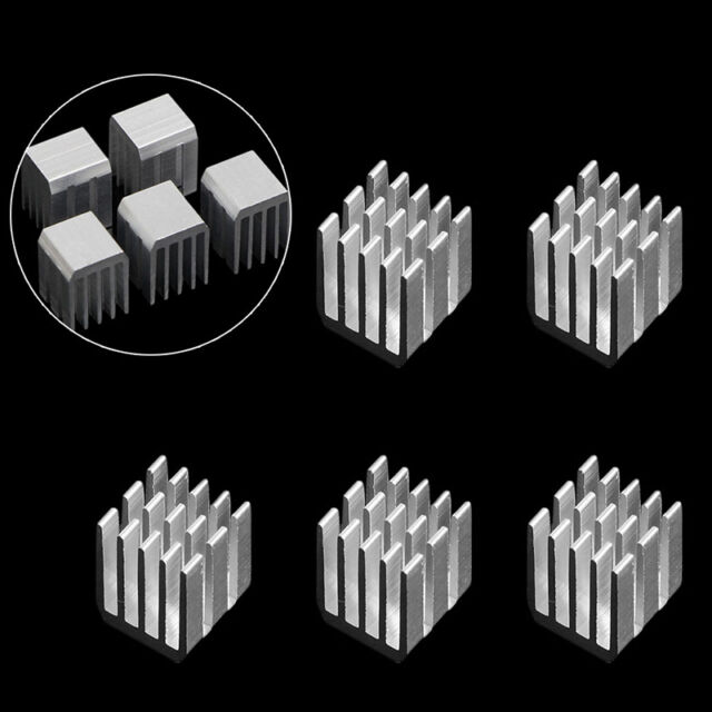5Pcs 9x9x12MM Aluminum Cooling RAM Radiator Heatsink Cooler Chipset Heat Sink
