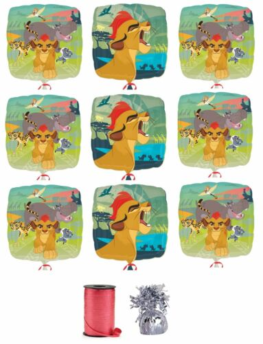 """9x Disney The Lion Guard 18/"""" Mylar Balloon w// Curling Ribbon and Balloon Weight"""