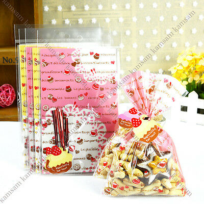 lovely bread food gift favor cellophane cello bags + cupcake twist tie party