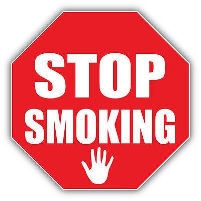 5 Pcs Soft Plastic No Smoking Sign Wall Window Car Sticker Decal Rubber ^D