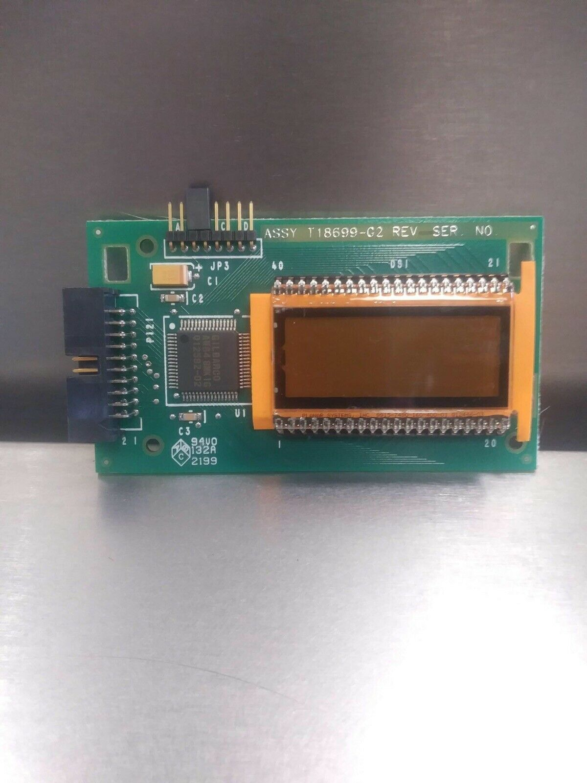 Lot of 4 Gilbarco T18699-G2 Single PPU LCD Display Boards