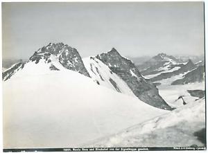 Wehrli-Suisse-Monte-Rosa-und-Miserabel-von-der-Signalkuppe-gesehen-Vintage-al