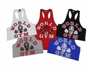 f5a2809e49475 Image is loading World-Gym-Fat-Strap-Y-Back-Tank-Top-