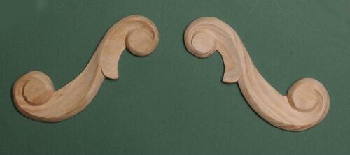 la paire 455 Main décoratif en bois sculpté pin pays fleur défile rail