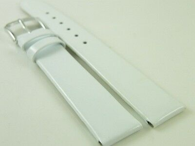 HQ COLORS BLING ITALY LEATHER WATCH BAND MIRROR FACE SMOOTH STRAP 14 16 18 MM