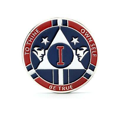 AA 9 Year Chip Pinstripe Medallion Alcoholics Anonymous Baseball Theme