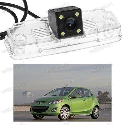 CCD Rear View Backup Camera Parking 4LED For Mazda 2 2012