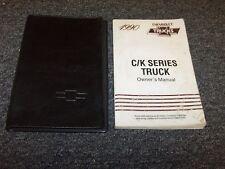 1990 Chevy Silverado C K 1500 2500 3500 Truck Owner Owner's Operator Manual Set