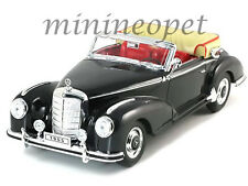 WELLY 19859 1955 55 MERCEDES BENZ 300 S CONVERTIBLE 1/18 DIECAST MODEL CAR BLACK