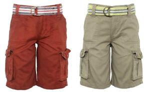 Garcons-Tenue-Coton-Multi-poches-Ceinture-Combat-Cargo-vacances-ete-short