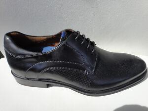 Details zu Lloyd Herren Schuhe Merlin Schnürer Leder schwarz 40,5 41 43 44,5 7 7,5 9 10