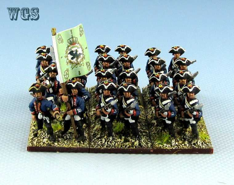 15mm SYW Seven Years War WGS painted Prussian Zastrow Intantry Pa2