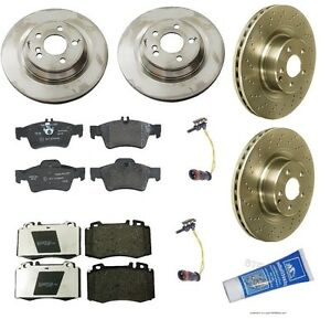 Mercedes Benz Brake Pads And Rotors >> NEW Mercedes-Benz W220 S500 2003-2006 Base Complete Front & Rear Brake KIT OEM
