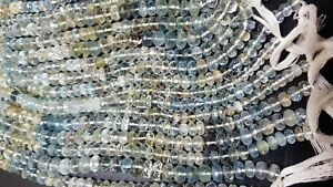 AAA-NATURAL-AQUAMARINE-RONDELLE-MICRO-FACETED-4-6-MM-13-034-GEMSTONE-BEADS