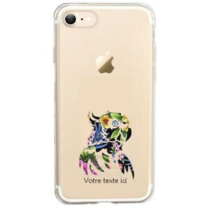 Coque Iphone 7 8 SE 2020 perroquet tropical personnalisee