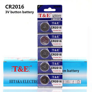 5pcs-CR2016-ECR2016-3V-Button-Coin-Cell-Battery-For-Watch-Camera
