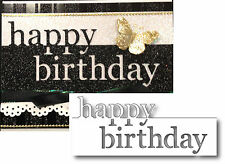 Memory Box dies GRAND HAPPY BIRTHDAY words border metal craft die 98838