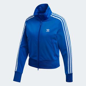 Adidas-Originals-Firebird-Track-Jacket-para-Mujer-con-estilo-puro-3-Rayas-Azul
