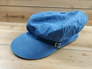 13.5oz Denim Vintage Newsboy Cap Work Men/'s Casual Blue Adjustable Hat Summer