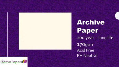 Papel de archivo 170gsm Libre De Ácido Ph Neutro A4 y A3 Blanco Opaco